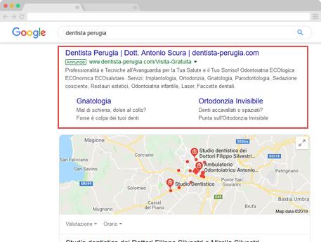 Campagne google ads per odontoiatri