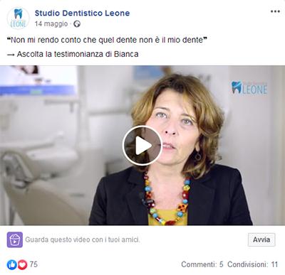 Social media management per dentisti